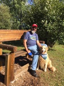 Therapy Dog Team, Mark & Kiva