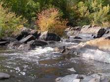 Water churning below the hydro dam